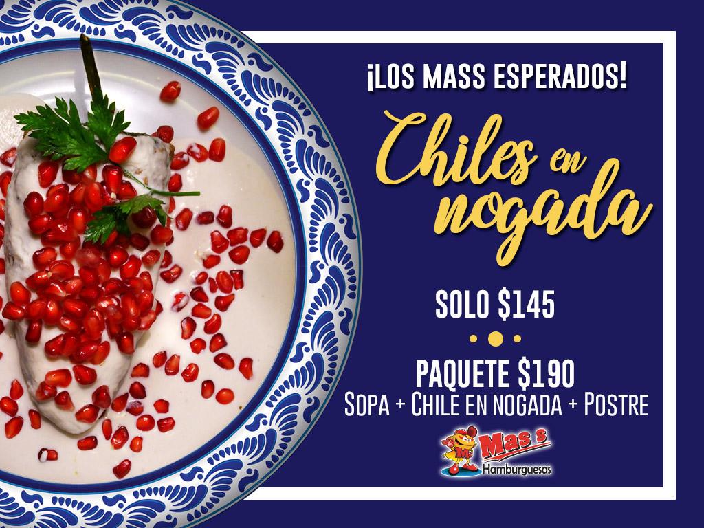 Chiles en Nogada por 145 pesos